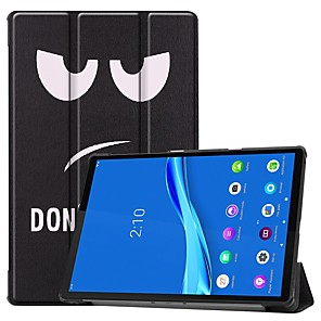 cheap Other Phone Case-Case For Lenovo M10 TB-X605F/X505F /Tab P10(TB-X705F / L) / Tab E10 TB-X104 Card Holder/Flip /Pattern Full Body Cases Eyes PU Leather Case For Lenovo Tab M7 TB-7305F /Tab E8(TB-8304F) /Tab E7(TB-7104)