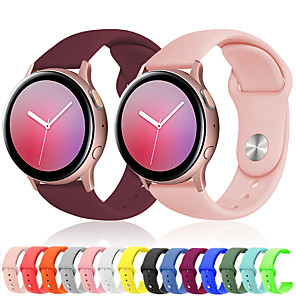 cheap Smartwatch Bands-Sport Silicone Wrist Strap Watch Band for Samsung Galaxy Watch 42mm / Galaxy Active 2 40mm 44mm R820 R830 / Active R500 / Gear S2 Classic / Gear Sport Replaceable Bracelet Wristband
