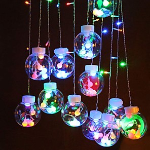 cheap LED String Lights-2.5m String Lights 138 LEDs Dip Led 1 set Warm White Multi Color Halloween Christmas Decorative Holiday Linkable 220-240 V