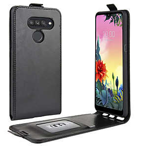 cheap Other Phone Case-Case For LG LG Q Stylus / LG V50 ThinQ / LG V30 Card Holder / Shockproof / Flip Full Body Cases Solid Colored PU Leather