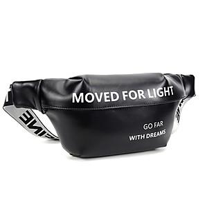cheap Running Bags-Running Belt Fanny Pack Belt Pouch / Belt Bag for Running Hiking Outdoor Exercise Traveling Sports Bag Adjustable Waterproof Portable PU Men's Women's Running Bag Adults