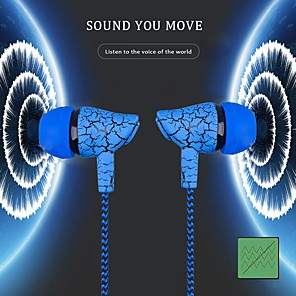 cheap Wired Earbuds-Crack Color Wired Control Earphone Sport In Ear Bass Stereo Headset Auricular With Microphone Music HiFi Earbuds