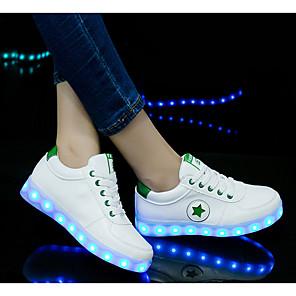 cheap Kids' LED Shoes-Boys' / Girls' Flats Comfort / Luminous Shoe / USB Charging PU Little Kids(4-7ys) Black / Green / Rainbow Spring / Summer