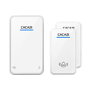 cheap Doorbell Systems-CACAZI Self-powered Wireless Doorbell Waterproof 200M Remote Bell No Battery Required LED Calling Bell Wireless chime 220V