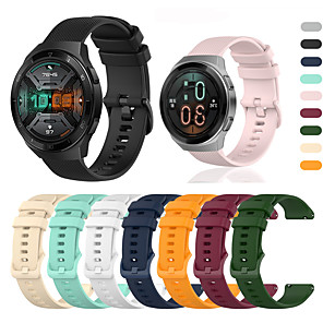 cheap Smartwatch Bands-Sport Silicone Wrist Strap Watch Band for Huawei Watch GT 2e / GT2 46mm / GT Active / Honor Magic Watch 2 46mm / Watch 2 Pro Replaceable Bracelet Wristband
