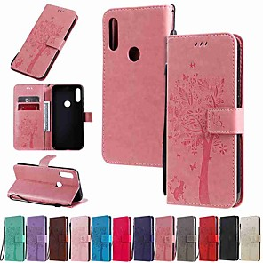cheap Other Phone Case-Case For Motorola MOTO G8 / Moto G8 Power / Moto E7 Wallet / Card Holder / with Stand Full Body Cases Tree Cat Embossing PU Leather / TPU for MOTO E6 Play / MOTO E6 / MOTO E6 Plus
