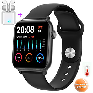 cheap Smartwatches-JSBP P66 Women Smartwatch Body Temperature Test Blood Oxygen Blood Pressure Epidemic Health Monitoring BT Sports Outdoor Waterproof for Android Samsung / Huawei / Xiaomi iOS Apple Mobile Phone