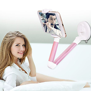 cheap Phone Mounts & Holders-Mobile Phone Tablet Universal Bedside Desktop Support Creative Folding Stretching Metal Cantilever Mobile Durable Practical