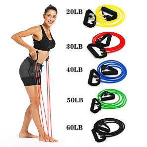 cheap Fitness Gear & Accessories-Exercise Resistance Bands 1 pcs Sports TPE Home Workout Yoga Pilates Eco-friendly Non Toxic Durable Strength Training Muscular Bodyweight Training Physical Therapy For Men Women Abdomen Back Forearm