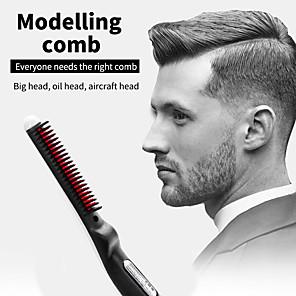 olcso Fürdőszobai kütyük-multifunkcionális hajfésű kefe gyors szakáll-hajkiegyenesítő hajcsavaró bemutató sapka férfiak szépség-hajformázó eszköz cseppszállítás