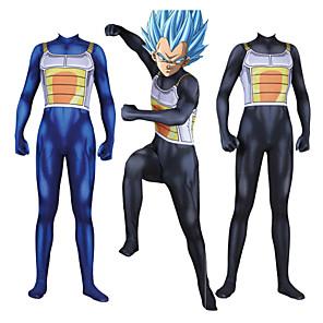 cheap Anime Costumes-Inspired by Dragon Ball Vegeta Anime Cosplay Costumes Japanese Cosplay Suits Catsuit For Men's Boys'