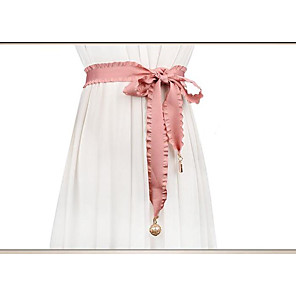cheap Party Sashes-50% Acrylic / 50% Cotton Wedding / Party / Evening Sash With Belt Women's Sashes