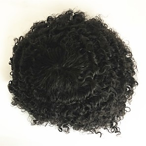 cheap Synthetic Trendy Wigs-Men's Human Hair Toupees Curly New / Natural Hairline / Comfy