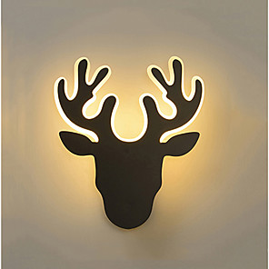cheap Indoor Wall Lights-Cute / Creative LED LED Wall Lights Living Room / Bedroom Metal Wall Light 110-120V / 220-240V 12 W / LED Integrated