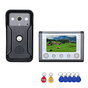 cheap Video Door Phone Systems-7 Inch Color Video Intercom Door Phone RFID System with  HD Doorbell 1000TVL  Camera