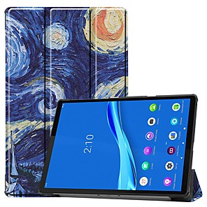cheap Other Phone Case-Case For Lenovo M10 TB-X605F/X505F /Tab P10(TB-X705F / L) / Tab E10 TB-X104 Card Holder/Flip Full Body Cases Starry Sky PU Leather Case For Lenovo Tab M7 TB-7305F /Tab E8(TB-8304F) /Tab E7(TB-7104)