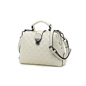 cheap Handbag & Totes-Women's Chain Polyester / PU Top Handle Bag 2020 Solid Color Wine / White / Black