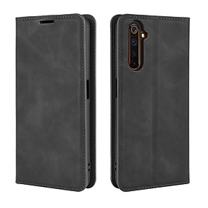cheap OPPO Case-Case For OPPO OPPO Reno Ace / realme X2 Pro / realme X2 Wallet / Card Holder / Shockproof Full Body Cases Solid Colored PU Leather