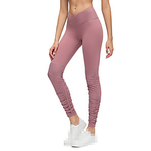 cheap Running Bags-Women's Running Tights Leggings Compression Pants Athletic Base Layer Leggings Bottoms Nylon Elastane Gym Workout Running Jogging Training Tummy Control Butt Lift Breathable Sport Black Purple