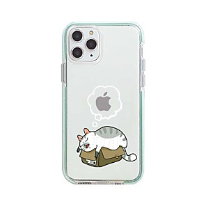 cheap iPhone Cases-Case For Apple iPhone 11 / iPhone 11 Pro / iPhone 11 Pro Max Pattern Back Cover Transparent / Cartoon TPU