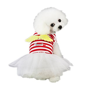 cheap Dog Clothes-Dog Dress Angel Sweet Style Cosplay Dog Clothes Red Pink Costume Polyester XS S M L XL