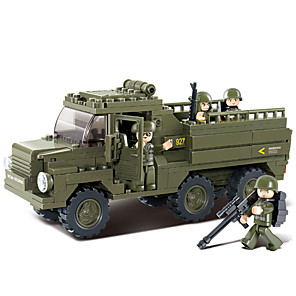 cheap Building Blocks-Building Blocks Educational Toy 230 pcs Military Cartoon compatible Plastic Shell Legoing Exquisite Hand-made Decompression Toys DIY Military Vehicle Boys and Girls Toy Gift / Kid's