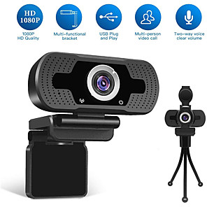 cheap Laptops-HD USB Webcam 1080p 90° Degree Super Wide Angle Range Low Light Gain Dual Microphones Adjustable Business Conference Webcam