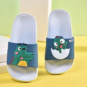 cheap Kids' Slippers-Girls' Comfort PU Slippers & Flip-Flops Little Kids(4-7ys) Purple / Pink / Green Summer