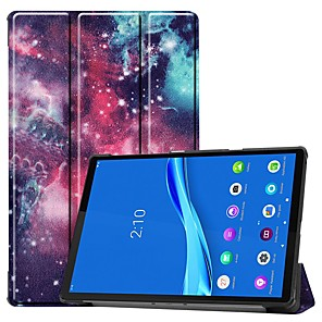 cheap Other Phone Case-Case For Lenovo M10 TB-X605F/X505F /Tab P10(TB-X705F / L) /Tab E8(TB-8304F) Card Holder/Flip /Pattern Full Body Cases Eyes PU Leather Case For Lenovo Tab M7 TB-7305F /Tab E7(TB-7104)