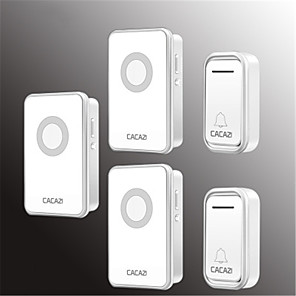 cheap Doorbell Systems-Cacazi V018F Waterproof Home Wireless Doorbell 300M Remote LED Light 2 Button 3 Receiver Cordless Door Bell Chimes
