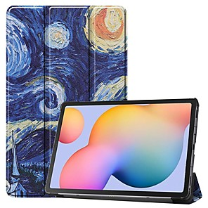 cheap Samsung Case-Case For Samsung Galaxy Tab S6 Lite (SM-P610/615)/ Tab S6 T860/856 /Tab S5e T720 10.5 Card Holder/Flip /Pattern Full Body Cases Starry Sky PU Leather For Samsung Galaxy Tab A 10.1(2019)T510
