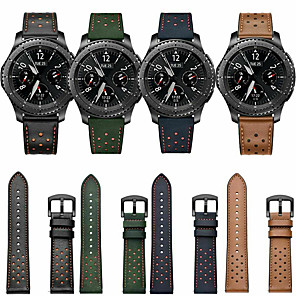 cheap Smartwatch Bands-Watch Band for Samsung Galaxy Watch 46mm / Samsung Galaxy Watch 42mm / Huawei Watch GT 2 Samsung Galaxy Classic Buckle / Business Band Genuine Leather Wrist Strap