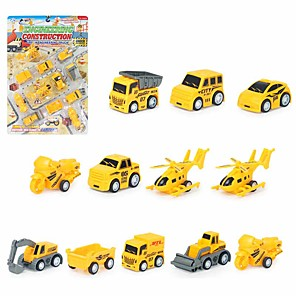 cheap Toy Cars-Toy Car Vehicle Playset Pull Back Car / Inertia Car Mini Truck Cartoon Toy Colorful Plastic Mini Car Vehicles Toys for Party Favor or Kids Birthday Gift 5cm/pcs 12 pcs