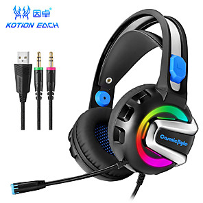 cheap Gaming Headsets-KOTION EACH G3300 Headphone with Clear Sound LED Headphone with Mic Game Headphone Wired Headphone