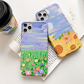 cheap iPhone Cases-Case For Apple iPhone 11 / iPhone 11 Pro / iPhone 11 Pro Max Shockproof Back Cover Flower TPU