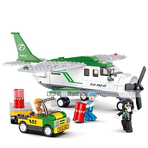 cheap Building Blocks-Building Blocks Educational Toy 251 pcs Aircraft Carrier Cartoon Airplane compatible Plastic Shell Legoing Exquisite Hand-made Decompression Toys DIY Boys and Girls Toy Gift / Kid's
