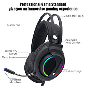 cheap Stands & Cooling Pads-LITBest K1 Gaming Headset Wired Stereo with Volume Control HIFI Microphone for Gaming