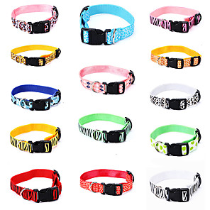 cheap Dog Collars, Harnesses & Leashes-Dog Cat Pets Collar Portable Retractable Soft Cute and Cuddly Adjustable Flexible Durable Casual / Daily Animal Classic Nylon Beagle Bulldog Shiba Inu Pug Bichon Frise Schnauzer Yellow Red 1pc