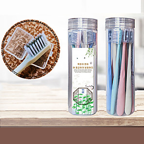 cheap Bathroom Gadgets-8 Pack Toothbrushes Soft Bristles Biodegradable Natural Charcoal Floss-Tip Bristles Toothbrushes BPA Free Whitening Therapy