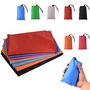 cheap Sleeping Bags & Camp Bedding-Picnic Blanket Outdoor Camping Waterproof Portable Lightweight Mini Terylene 100*140 cm for 2 - 3 person Camping / Hiking Hunting Fishing Spring Summer Black Red Fuchsia