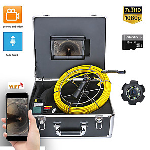 cheap Video Door Phone Systems-7inch DVR 50M HD1080P Drain Sewer Pipeline Industrial Endoscope Pipe Inspection Video Camera with DVR Video Recording / WIFI Wireless / Photo Editing