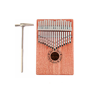 cheap Microphones & Accessories-Kalimba 17 Key Finger Mbira Sanza Thumb Piano Wood Portable Musical Instrument Best Gift for Kids and Beginners