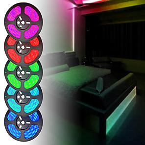 cheap Portable Speakers-15M 3x5M Flexible LED Strip Lights Light Sets RGB Tiktok Lights 450 LEDs SMD5050 10mm 1 44Keys Remote Controller 1 x 6A power adapter 1 set Multi Color Waterproof Decorative Self-adhesive 12 V