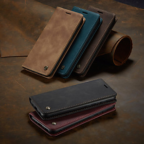 cheap Samsung Case-Caseme Case for Samsung scene graph S20 S20 Plus S20 Ultra A51 A71 Solid color retro matte soft leather card holder wallet all-inclusive anti-fall mobile phone case