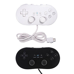 cheap Video Game Accessories-Wired Game Controller For Wii U / Wii, Portable For Nintend Wii Wired Classic First Gen Controller USB Game Joystick Gamepad