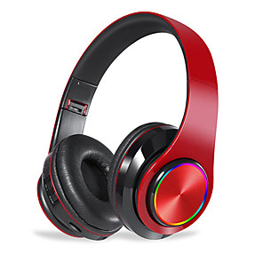 cheap On-ear & Over-ear Headphones-E8 Wireless Bluetooth Headset  Portable Folding Support TF Card Built in FM mp3 Player With Colorful LED Breathing Lights