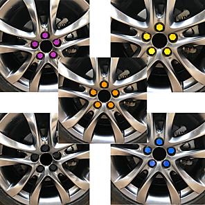 tanie Automotive Body Decoration and Protection-20 sztuk 19mm kołpaki samochodowe śruby pokrywy nakrętki silikonowe auto piasty koła ochraniacze zakrętki stylizacja pokrywa antykorozyjna
