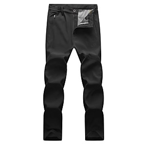 cheap Hiking Trousers & Shorts-Men's Hiking Pants Hiking Cargo Pants Solid Color Winter Outdoor Standard Fit Breathable Warm Comfortable Thick Pants / Trousers Bottoms Dark Grey Black Army Green Camping / Hiking Hunting Fishing M