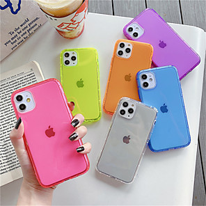 cheap iPhone Cases-Case For Apple iPhone 11 Pro Max iPhone 11 Pro Phone Case TPU Material Fluorescence Air Pressure Solid Color Phone Case for iPhone 11 XS Max XR XS X 8 Plus 7 Plus 8 7