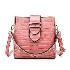 cheap Women's Heels-Women's Zipper PU Top Handle Bag 2020 Crocodile Wine / Black / Blushing Pink